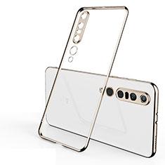 Silikon Schutzhülle Ultra Dünn Tasche Durchsichtig Transparent H02 für Xiaomi Mi 10 Pro Gold
