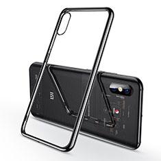Silikon Schutzhülle Ultra Dünn Tasche Durchsichtig Transparent H02 für Xiaomi Mi 8 Explorer Schwarz