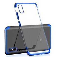 Silikon Schutzhülle Ultra Dünn Tasche Durchsichtig Transparent H02 für Xiaomi Mi 8 Screen Fingerprint Edition Blau