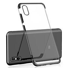 Silikon Schutzhülle Ultra Dünn Tasche Durchsichtig Transparent H02 für Xiaomi Mi 8 Screen Fingerprint Edition Schwarz