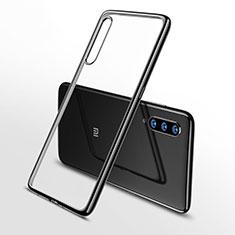 Silikon Schutzhülle Ultra Dünn Tasche Durchsichtig Transparent H02 für Xiaomi Mi 9 Schwarz