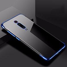 Silikon Schutzhülle Ultra Dünn Tasche Durchsichtig Transparent H02 für Xiaomi Mi 9T Blau