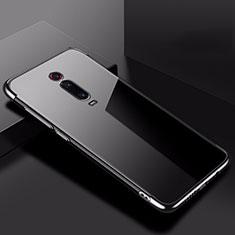 Silikon Schutzhülle Ultra Dünn Tasche Durchsichtig Transparent H02 für Xiaomi Mi 9T Schwarz