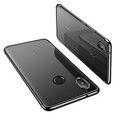 Silikon Schutzhülle Ultra Dünn Tasche Durchsichtig Transparent H02 für Xiaomi Mi A2 Schwarz