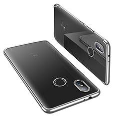 Silikon Schutzhülle Ultra Dünn Tasche Durchsichtig Transparent H02 für Xiaomi Mi A2 Silber