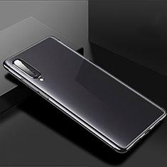 Silikon Schutzhülle Ultra Dünn Tasche Durchsichtig Transparent H02 für Xiaomi Mi A3 Schwarz