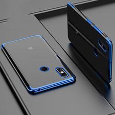 Silikon Schutzhülle Ultra Dünn Tasche Durchsichtig Transparent H02 für Xiaomi Mi Max 3 Blau