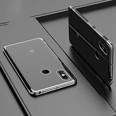 Silikon Schutzhülle Ultra Dünn Tasche Durchsichtig Transparent H02 für Xiaomi Mi Max 3 Schwarz