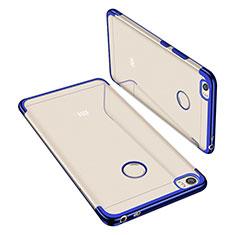 Silikon Schutzhülle Ultra Dünn Tasche Durchsichtig Transparent H02 für Xiaomi Mi Max Blau