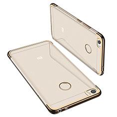 Silikon Schutzhülle Ultra Dünn Tasche Durchsichtig Transparent H02 für Xiaomi Mi Max Gold