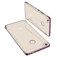 Silikon Schutzhülle Ultra Dünn Tasche Durchsichtig Transparent H02 für Xiaomi Mi Max Rosegold