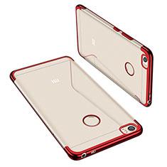 Silikon Schutzhülle Ultra Dünn Tasche Durchsichtig Transparent H02 für Xiaomi Mi Max Rot