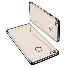 Silikon Schutzhülle Ultra Dünn Tasche Durchsichtig Transparent H02 für Xiaomi Mi Max Schwarz