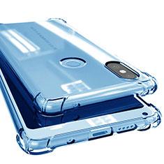 Silikon Schutzhülle Ultra Dünn Tasche Durchsichtig Transparent H02 für Xiaomi Mi Mix 2S Blau