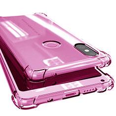 Silikon Schutzhülle Ultra Dünn Tasche Durchsichtig Transparent H02 für Xiaomi Mi Mix 2S Rosa