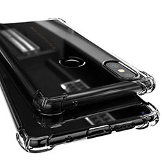 Silikon Schutzhülle Ultra Dünn Tasche Durchsichtig Transparent H02 für Xiaomi Mi Mix 2S Schwarz