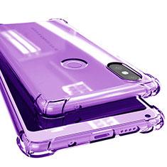 Silikon Schutzhülle Ultra Dünn Tasche Durchsichtig Transparent H02 für Xiaomi Mi Mix 2S Violett