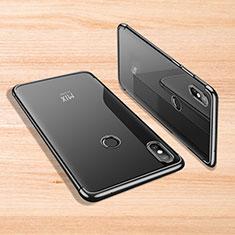 Silikon Schutzhülle Ultra Dünn Tasche Durchsichtig Transparent H02 für Xiaomi Mi Mix 3 Schwarz