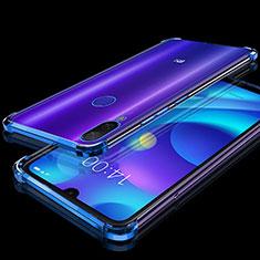 Silikon Schutzhülle Ultra Dünn Tasche Durchsichtig Transparent H02 für Xiaomi Mi Play 4G Blau