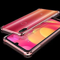 Silikon Schutzhülle Ultra Dünn Tasche Durchsichtig Transparent H02 für Xiaomi Mi Play 4G Rosegold