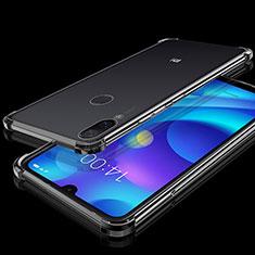 Silikon Schutzhülle Ultra Dünn Tasche Durchsichtig Transparent H02 für Xiaomi Mi Play 4G Schwarz