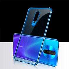 Silikon Schutzhülle Ultra Dünn Tasche Durchsichtig Transparent H02 für Xiaomi Poco X2 Blau