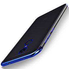 Silikon Schutzhülle Ultra Dünn Tasche Durchsichtig Transparent H02 für Xiaomi Redmi 5 Plus Blau