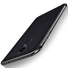 Silikon Schutzhülle Ultra Dünn Tasche Durchsichtig Transparent H02 für Xiaomi Redmi 5 Plus Schwarz
