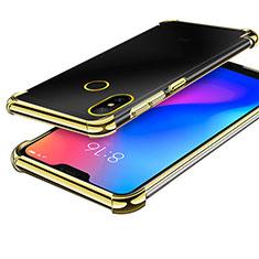 Silikon Schutzhülle Ultra Dünn Tasche Durchsichtig Transparent H02 für Xiaomi Redmi 6 Pro Gold
