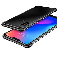 Silikon Schutzhülle Ultra Dünn Tasche Durchsichtig Transparent H02 für Xiaomi Redmi 6 Pro Schwarz
