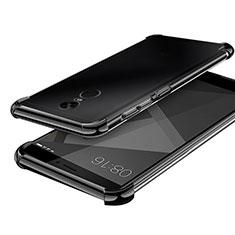 Silikon Schutzhülle Ultra Dünn Tasche Durchsichtig Transparent H02 für Xiaomi Redmi Note 4 Schwarz