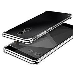 Silikon Schutzhülle Ultra Dünn Tasche Durchsichtig Transparent H02 für Xiaomi Redmi Note 4 Silber