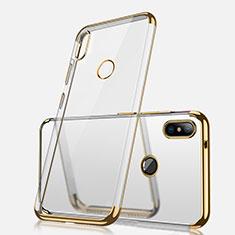 Silikon Schutzhülle Ultra Dünn Tasche Durchsichtig Transparent H02 für Xiaomi Redmi Note 5 AI Dual Camera Gold