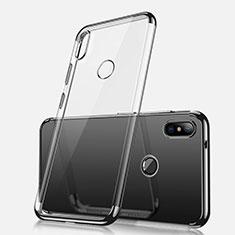 Silikon Schutzhülle Ultra Dünn Tasche Durchsichtig Transparent H02 für Xiaomi Redmi Note 5 AI Dual Camera Schwarz