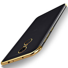 Silikon Schutzhülle Ultra Dünn Tasche Durchsichtig Transparent H02 für Xiaomi Redmi Note 5 Indian Version Gold