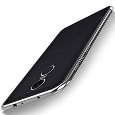 Silikon Schutzhülle Ultra Dünn Tasche Durchsichtig Transparent H02 für Xiaomi Redmi Note 5 Indian Version Silber