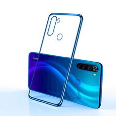 Silikon Schutzhülle Ultra Dünn Tasche Durchsichtig Transparent H02 für Xiaomi Redmi Note 8 Blau
