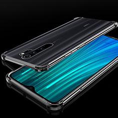 Silikon Schutzhülle Ultra Dünn Tasche Durchsichtig Transparent H02 für Xiaomi Redmi Note 8 Pro Schwarz