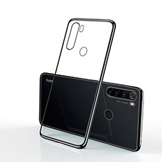 Silikon Schutzhülle Ultra Dünn Tasche Durchsichtig Transparent H02 für Xiaomi Redmi Note 8 Schwarz