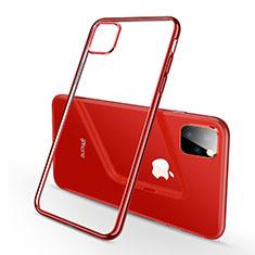 Silikon Schutzhülle Ultra Dünn Tasche Durchsichtig Transparent H03 für Apple iPhone 11 Pro Max Rot