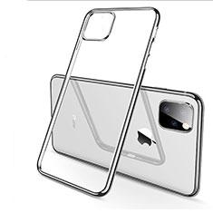 Silikon Schutzhülle Ultra Dünn Tasche Durchsichtig Transparent H03 für Apple iPhone 11 Pro Max Silber