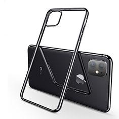 Silikon Schutzhülle Ultra Dünn Tasche Durchsichtig Transparent H03 für Apple iPhone 11 Schwarz