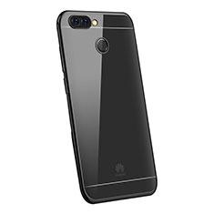 Silikon Schutzhülle Ultra Dünn Tasche Durchsichtig Transparent H03 für Huawei Enjoy 7S Schwarz