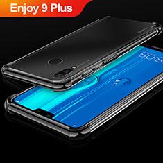 Silikon Schutzhülle Ultra Dünn Tasche Durchsichtig Transparent H03 für Huawei Enjoy 9 Plus Schwarz