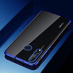 Silikon Schutzhülle Ultra Dünn Tasche Durchsichtig Transparent H03 für Huawei Enjoy 9s Blau