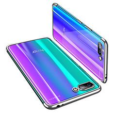Silikon Schutzhülle Ultra Dünn Tasche Durchsichtig Transparent H03 für Huawei Honor 10 Silber