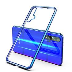 Silikon Schutzhülle Ultra Dünn Tasche Durchsichtig Transparent H03 für Huawei Honor 20 Blau