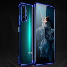 Silikon Schutzhülle Ultra Dünn Tasche Durchsichtig Transparent H03 für Huawei Honor 20 Pro Blau