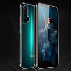 Silikon Schutzhülle Ultra Dünn Tasche Durchsichtig Transparent H03 für Huawei Honor 20 Pro Schwarz