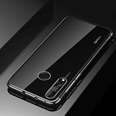 Silikon Schutzhülle Ultra Dünn Tasche Durchsichtig Transparent H03 für Huawei Honor 20i Schwarz